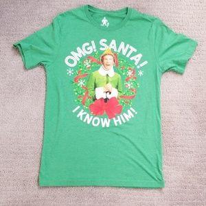 Elf tee, Christmas t-shirt, size medium, Santa tee